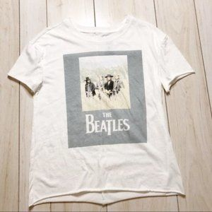 The Beatles White Graphic Band Tee T-shirt